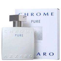 AZZARO CHROME PURE MASCULINO  EAU DE TOILETTE 100ML