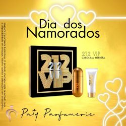 CAROLINA HERRERA KIT 212 VIP FEMININO (EAU DE TOILETTE 80ml + LOÇÃO HIDRATANTE 100ml)