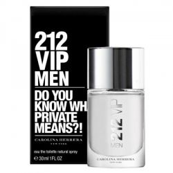 CAROLINA HERRERA 212 VIP MEN MASCULINO EAU DE TOILETTE 30ML
