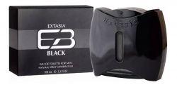 NEW BRAND EXTASIA BLACK FOR MEN EAU DE TOILETTE 100ML